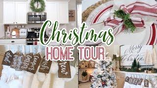 CHRISTMAS HOME DECOR TOUR | FARMHOUSE CHRISTMAS DECOR 2019
