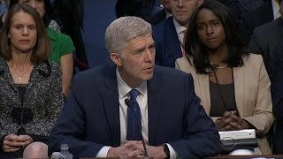 Gorsuch speaks at confirmation hearing while Dems focus on Garland