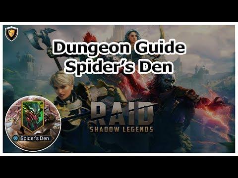 RAID Shadow Legends - Spider's Den - Dungeon Guide