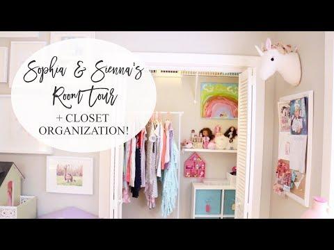 Girls' Shared Room Tour + Closet Organization