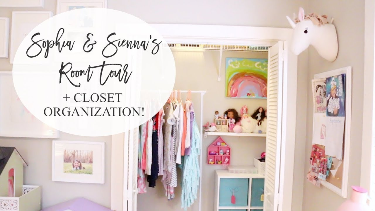 Girlsu0027 Shared Room Tour + Closet Organization