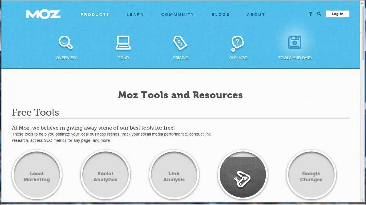 FREE SEO Analysis Tool Online - Moz SEO Toolbar - MarketingEasyStreet com