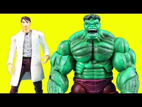Bruce Banner Turns Into Gamma Punch Incredible Hulk To Battle Joker ! Superhero Toys