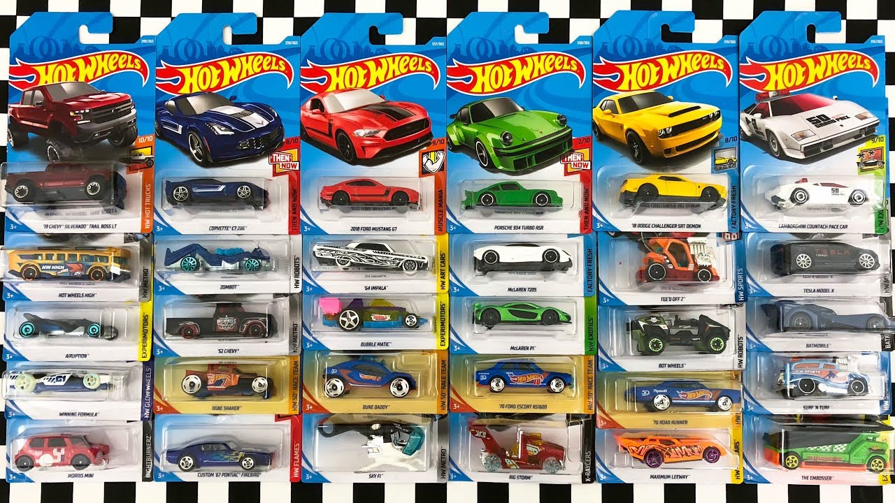 opening 30 new hot wheels 2018 p case cars youtube. Black Bedroom Furniture Sets. Home Design Ideas