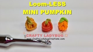 Rainbow Loom Bands Mini Pumpkin No Loom-halloween Easy Charm Tutorials/how To Make By Crafty Ladybug