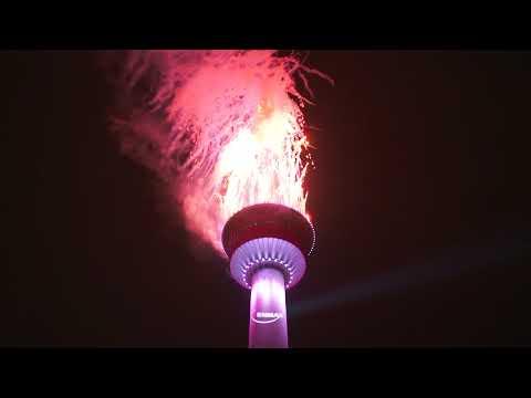2019 New Year's Eve ENMAX Fireworks Calgary, Canada