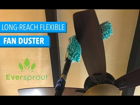 EVERSPROUT Flexible Ceiling Fan Duster - Dusting High Ceiling Fans
