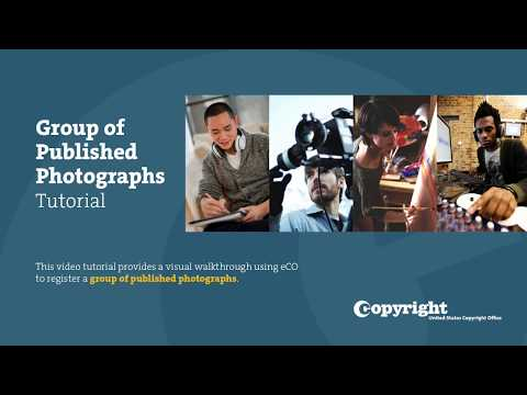 Group Registration of Published Photographs: Tutorial (2018)
