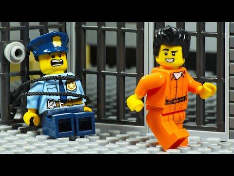 Lego City Prison Break Digging Secret Tunnel Prison Escape
