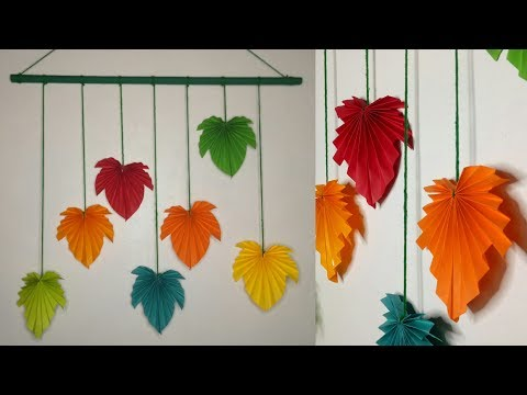 BEST HANGING PAPER LEAVES DECOR FOR AUTUMN SEASON / CHRISTMAS HANGING DECOR / CHRISTMAS PAPER LEAVES