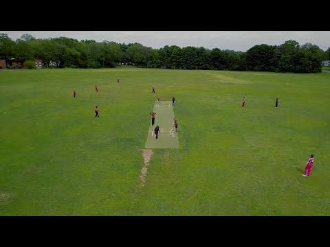 Wrentham Cricket Grounds - Dhruv Reddy in action - DJI Mavic Pro (4K)