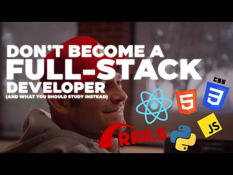 3 Reasons Why You SHOULDN'T Become a Full-Stack Developer (and what you should study instead)