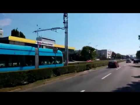 Public transportation in Zagreb,Croatia (Trams and buses)
