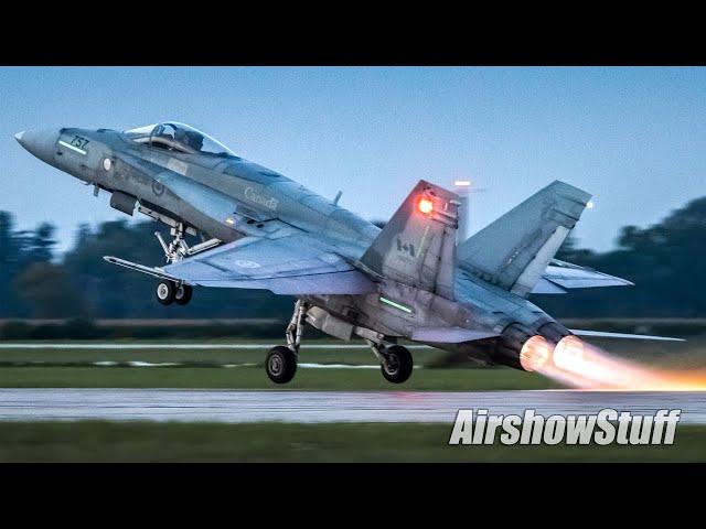 Afterburner After Dark! CF-18 Hornet Night Demo - Airshow London 2021