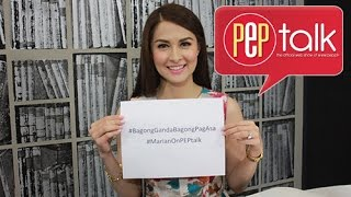 "PEPtalk. Marian Rivera recalls her first impression on Dingdong Dantes: ""Suplado."""