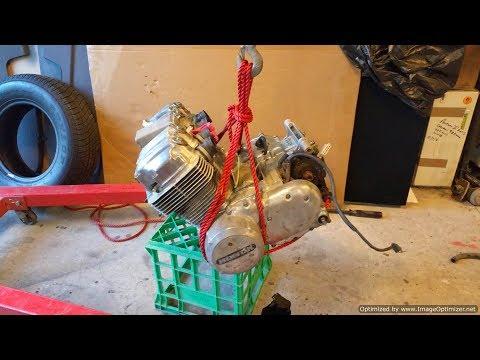 Honda CB750 Barn find - Pulling the Engine  Part 4