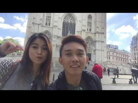 Cute couple Europe Travel