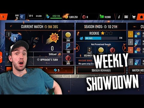 NEW SHOWDOWN GAME MODE + 98 HAKEEM IN NBA LIVE MOBILE!!