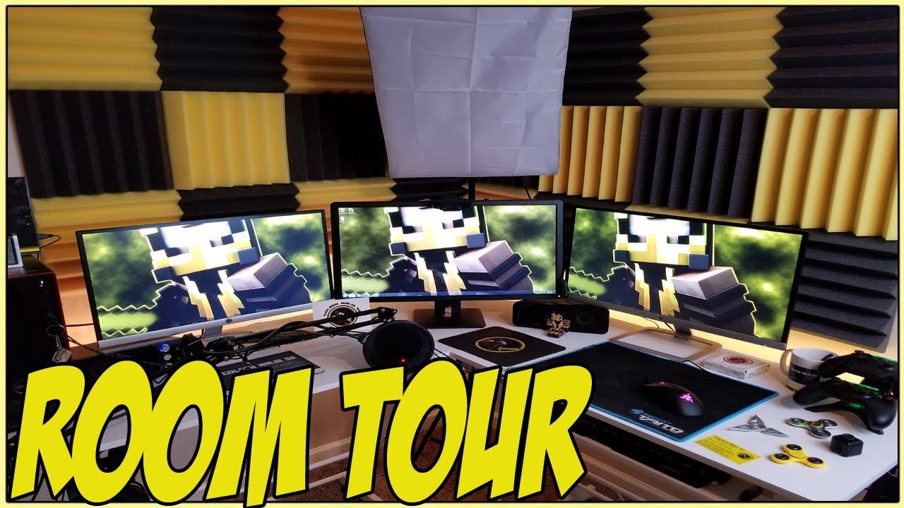 2017 Ultimate 10yr Old S Gaming Room Setup Tour Youtube
