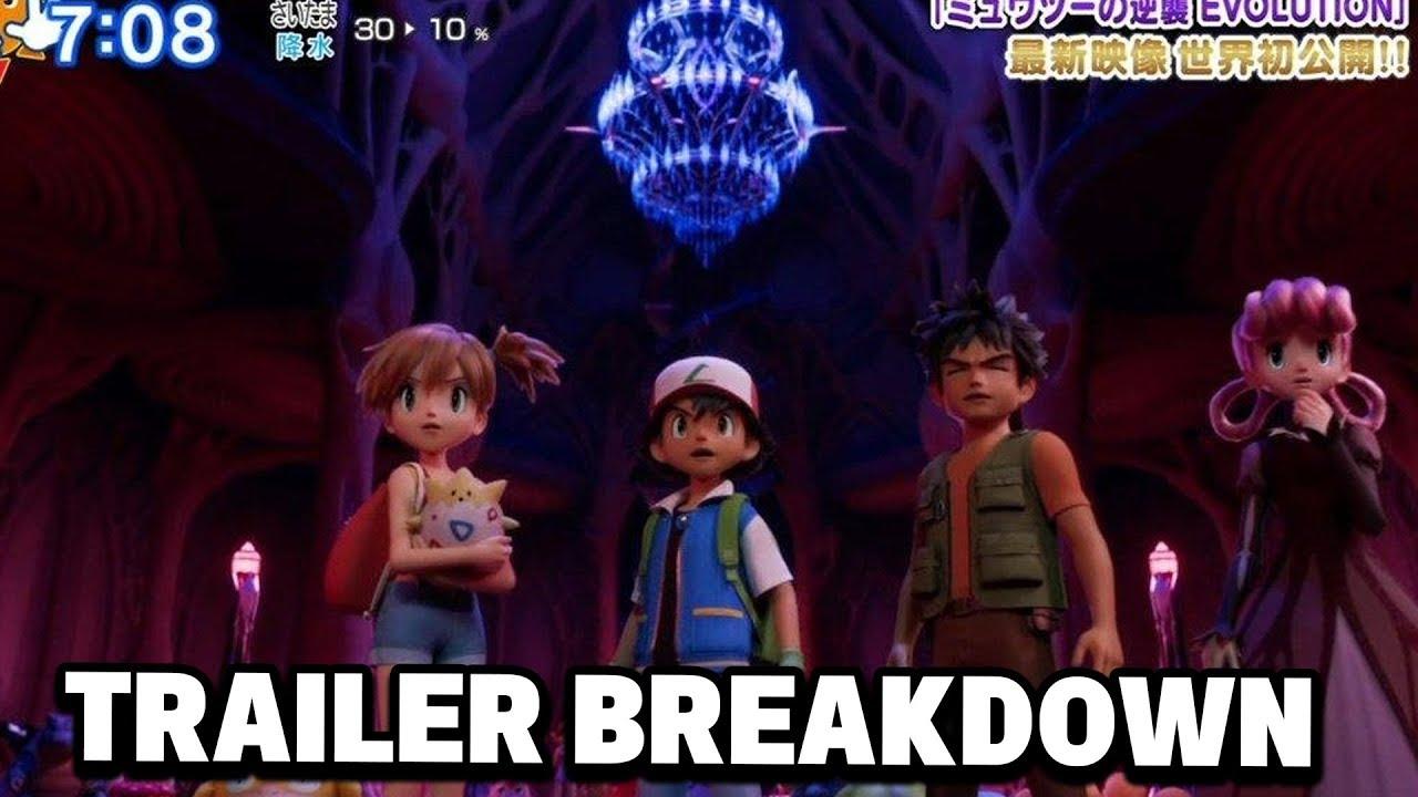 Pokemon Mewtwo Strikes Back Evolution New Trailer Breakdown Misty Ash Brock In 3d Youtube