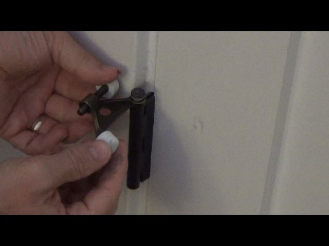 How To Install A Hinge Pin Door Stop Youtube