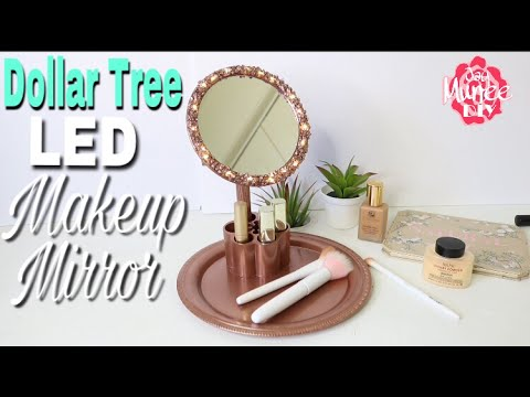 Dollar Tree DIY LED Makeup Vanity Mirror