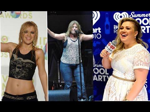 Kelly Clarkson weight gain transformation 2009 -2015