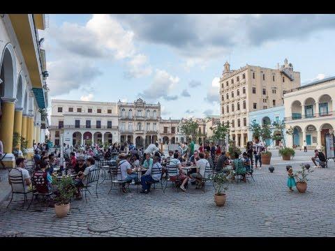 Plaza Vieja, the Old Square, in Havana, Cuba