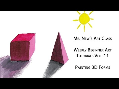 Tutorial: Painting 3d Forms in Color - Weekly Beginner Art Lessons Vol. 11