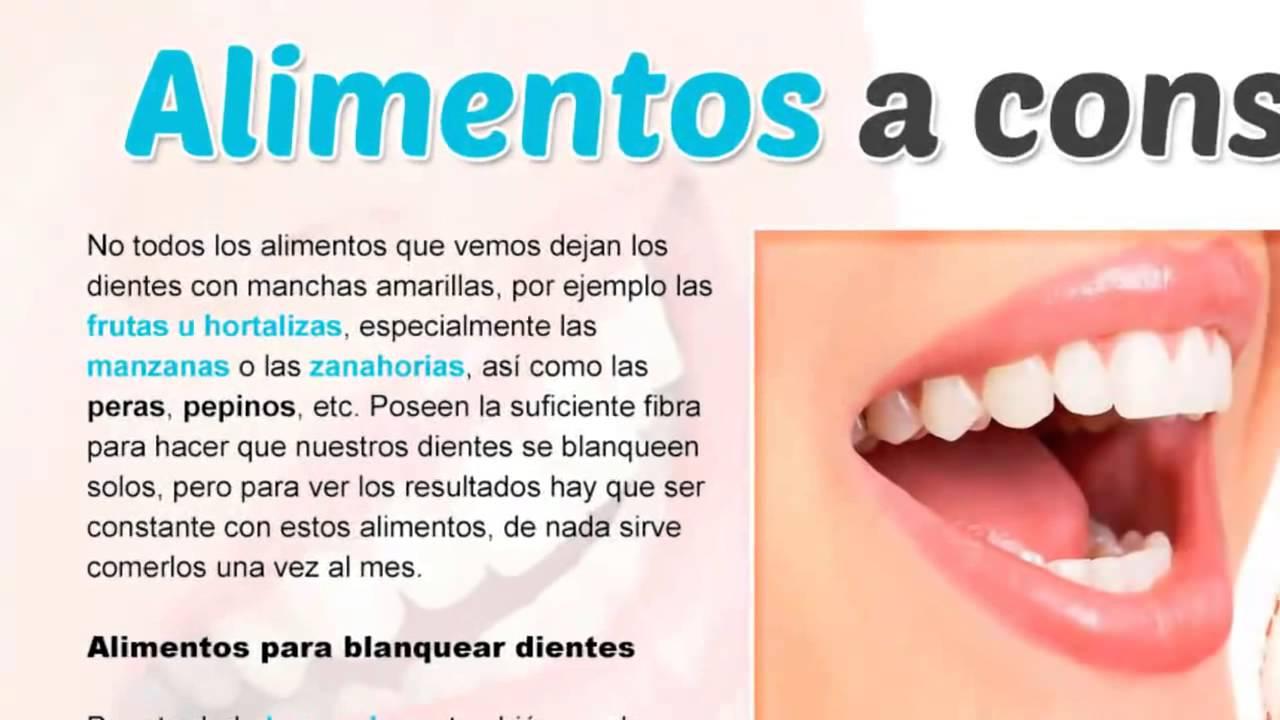 where can i buy super quality timeless design Alimentos caseros para blanquear dientes. - INFORMACIONES ...