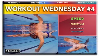 Swimming workout for speed, freestyle, breaststroke. Workout Wednesday #4