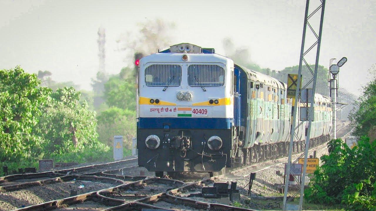IRFCA - #Video8 SPJ WDP-4D Udhna - Varanasi Bholenagri Express Silently  Skips Unchhera at 110 km/hr