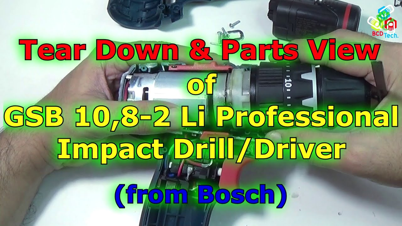 Bosch Gsb 1082li 108v Liion 25quot Cordless Drilldriver Drill Mesin Bor Obeng Tembok 2 Baterai 1080 Li Tear Down Parts View Of 108 Impact Driver