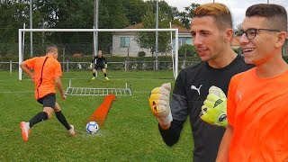 GOALKEEPER CHALLENGE N°2 ! (VS Evan Switch et SAland)