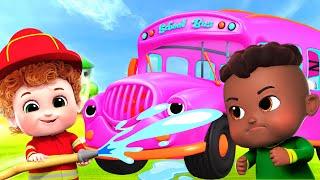 School bus song   Wheels on the school bus   Gecko's Garage   Nursery rhymes & Kids Songs