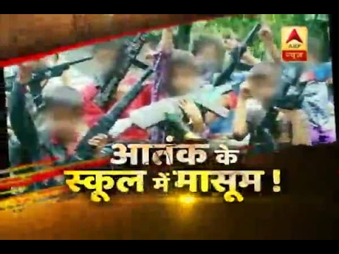 Sansani: Horrifying visuals of children holding automatic guns and AK-47 in Kashmir