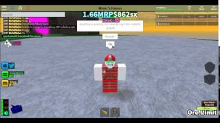 Copy of ROBLOX: Miners Haven setup (Recommended 150+ rebirths)