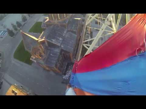Morning on top of the crane in Gyumri