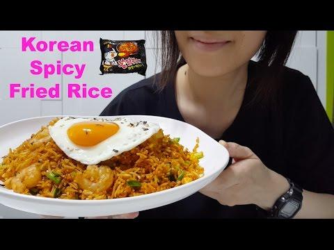Korean Spicy Fried Rice | JAPAN TRIP | 韓式辣雞炒飯 : Mukbang / ASMR ( Cooking & Eating Sounds )