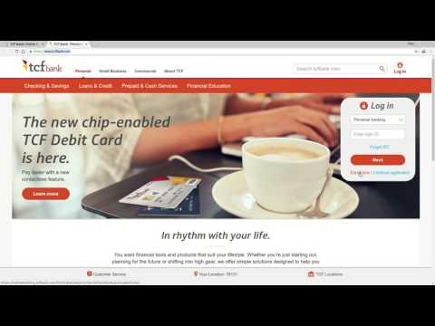 TCF Bank Online Banking Login Tutorial - YouTube