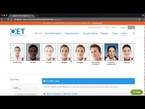 How to register for OET Exam