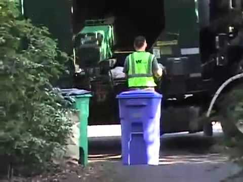 Trash Day in Portland -- WM side loaders