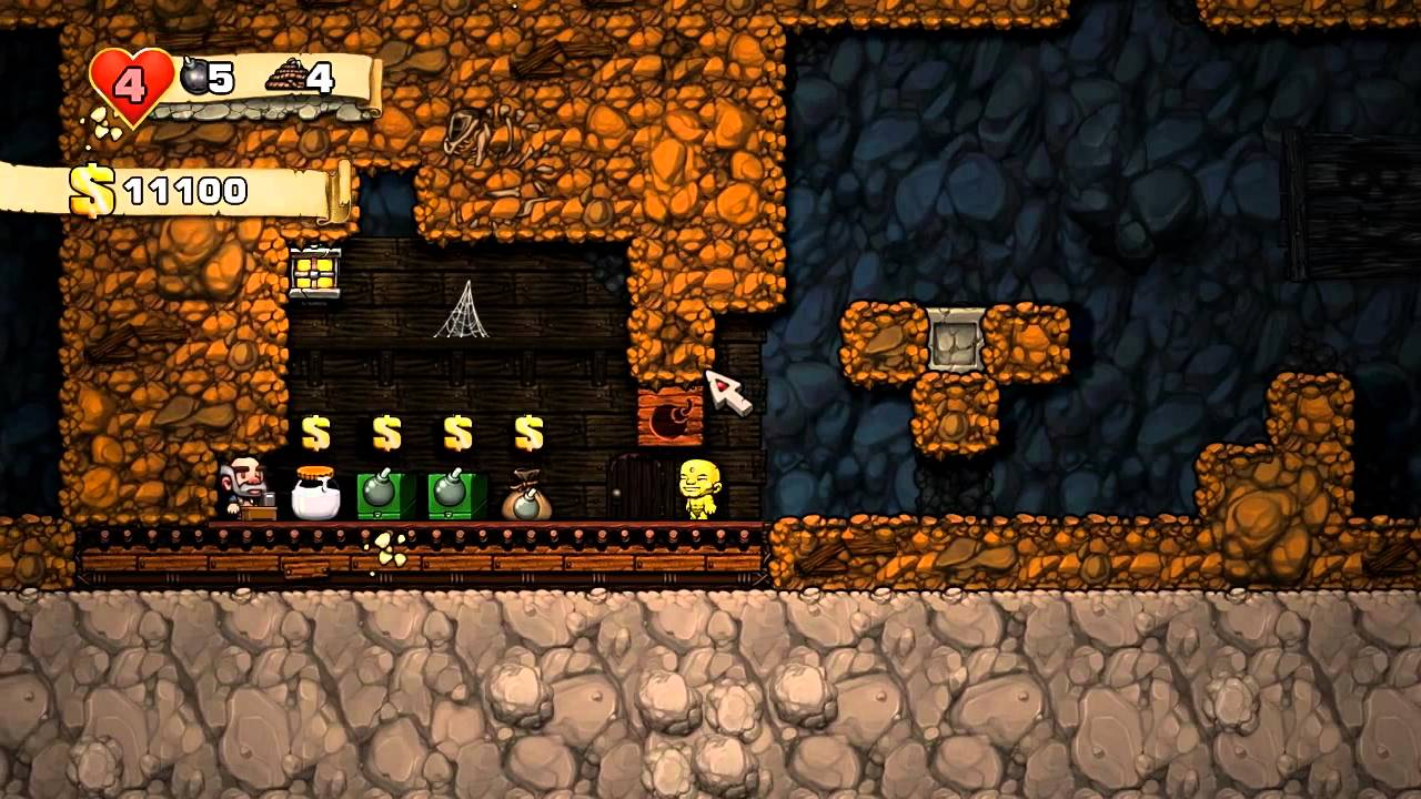 spelunky the easiest way to kill shop keepers youtube