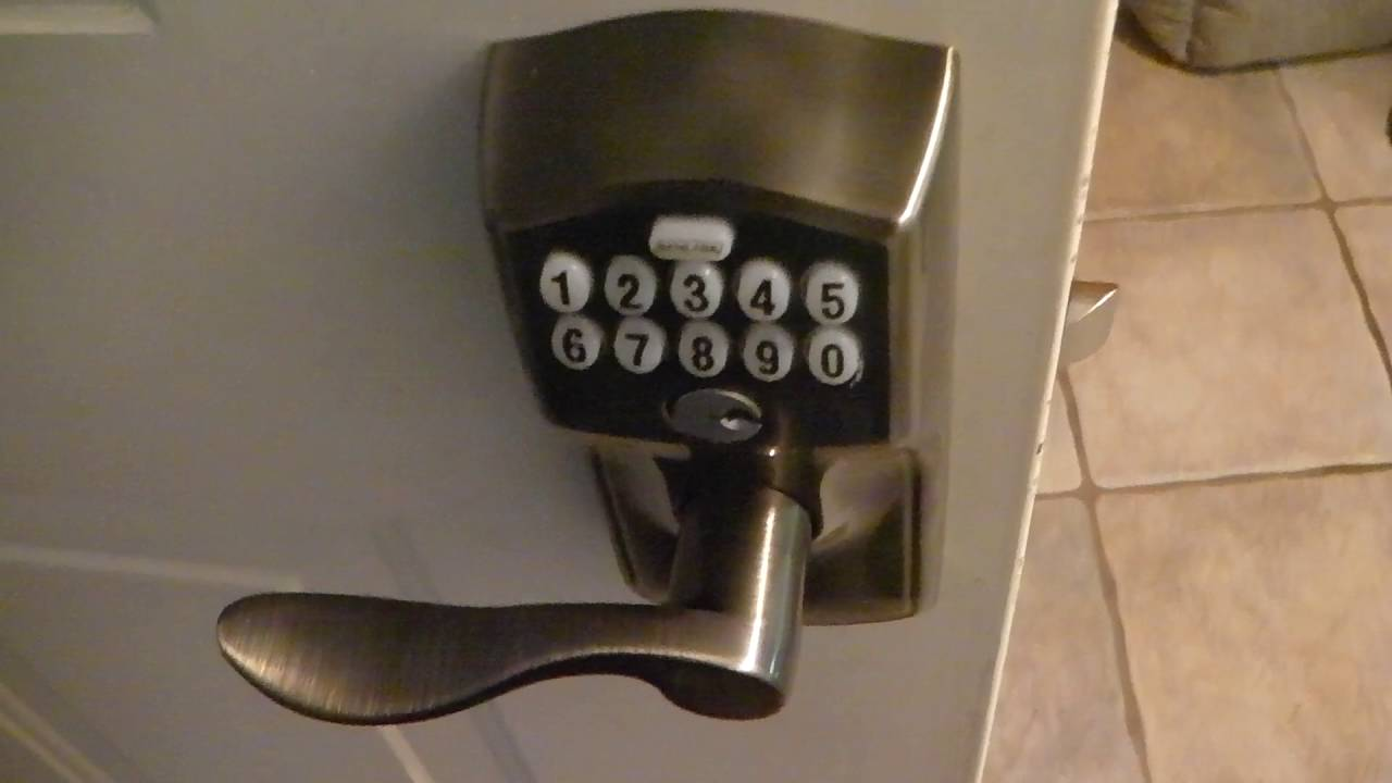 Schlage Keypad Lever With Flex Lock Install And Review