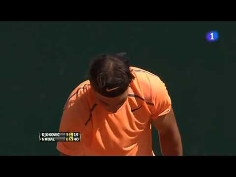 Rafael Nadal vs Novak Djokovic MATCH POINT - Montecarlo 2012 Final