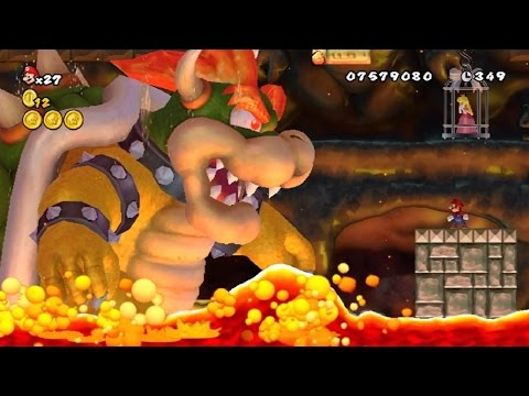 New Super Mario Bros Series - All Bowser Boss Battles