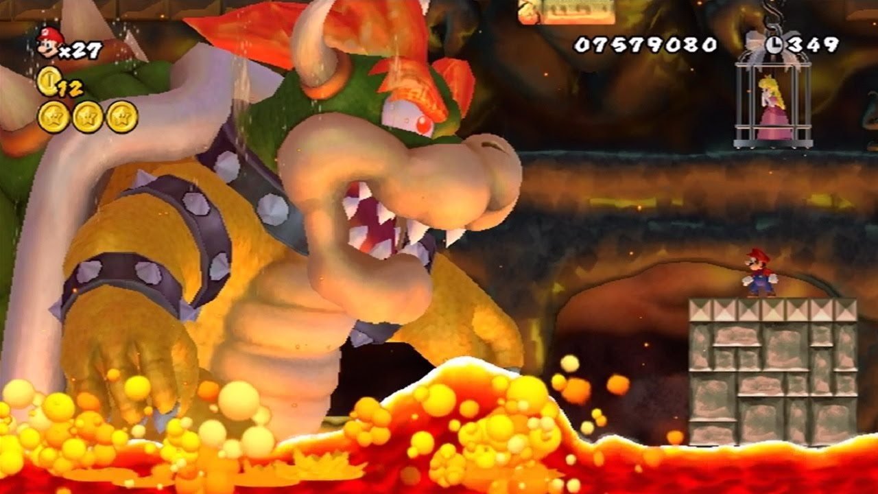 new super mario bros series all bowser boss battles