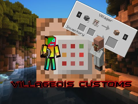 Minecraft Tutoriel - Villageois Customs - Vanilla [1.8]