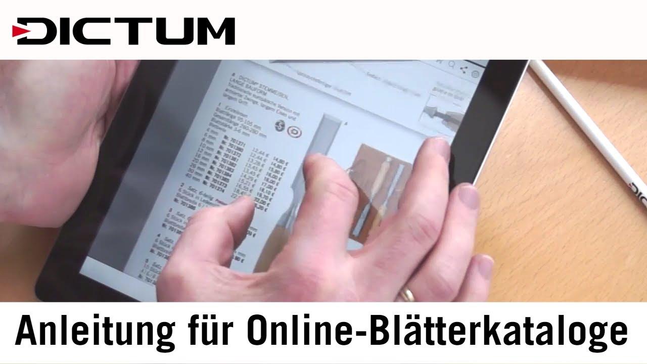 Dictum Online Blätterkataloge Anleitung Werkzeugkatalog