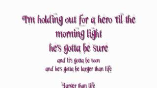 Holding Out For A Hero - frou frou lyrics HD